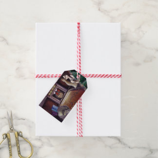 BLACK XMAS: Brighten up the Christmas lights Gift Tags