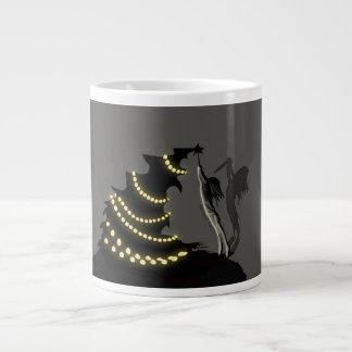 BLACK XMAS: Decorating the Christmas Tree Large Coffee Mug