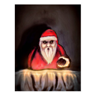 Black Xmas: Santa Claus is Here Postcard