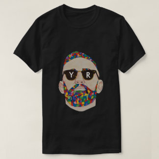 Black YaR Printed Graffiti T-Shirt