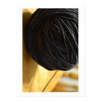 Black Yarn Postcard