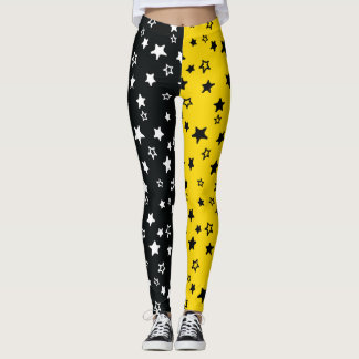 Black & Yellow Allstar Leggings