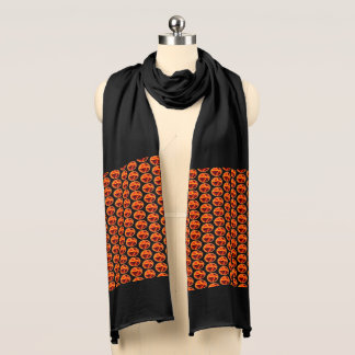Black, Yellow and Red Abstract Print Scarf