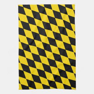 Black Yellow Bavaria Flag Kitchen Towel