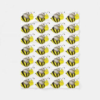 Black Yellow Bee Bees Bumblebee Print Blanket