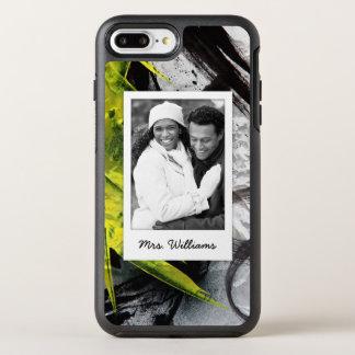 Black & Yellow Brush Strokes | Add Photo OtterBox Symmetry iPhone 7 Plus Case