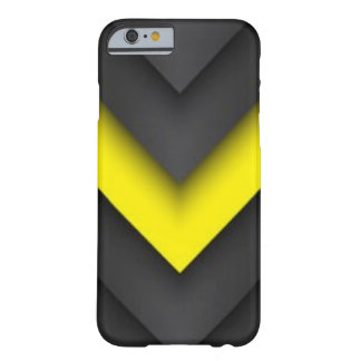 Black & Yellow Chevron Pattern Print Design Barely There iPhone 6 Case