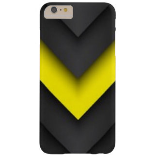 Black & Yellow Chevron Pattern Print Design Barely There iPhone 6 Plus Case