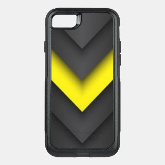 Black & Yellow Chevron Pattern Print Design OtterBox Commuter iPhone 7 Case