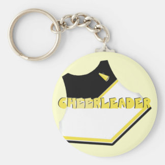 Black/Yellow/Gold Cheerleader Keychain