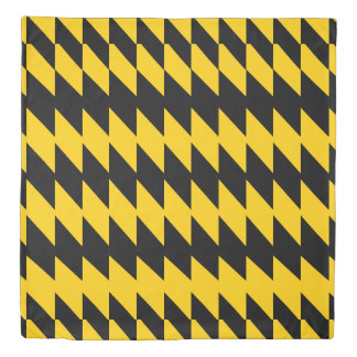 Black & Yellow-Gold Jagged 2 Patterned Duvet Cover