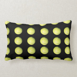 Black Yellow Golf Ball Pattern Lumbar Cushion