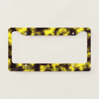 Black & Yellow Misty/Hazy/Cloudy/Foggy Pattern License Plate Frame