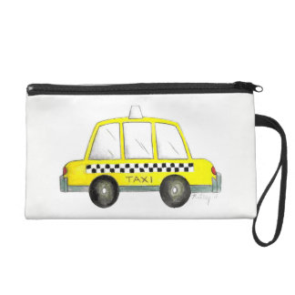 Black Yellow NYC New York City Taxi Cab Car Wristlet