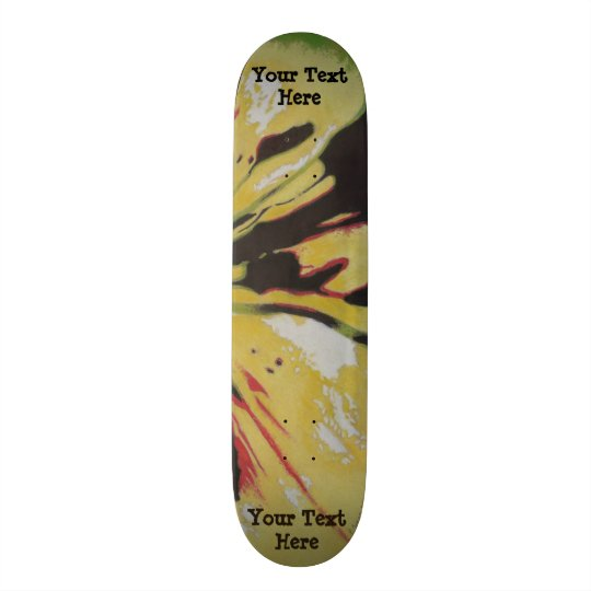black yellow original modern abstract art design skateboard