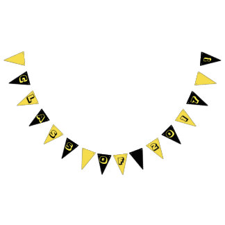 Black/yellow school Class of 2017 Party Banner