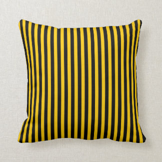 Black/Yellow Stripes Coloured Pillow