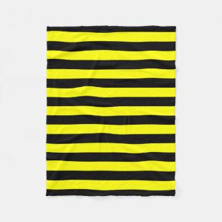 Black & Yellow Stripes Pattern Fleece Blanket