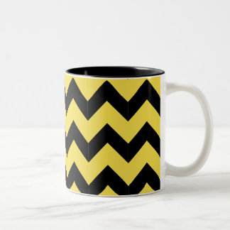 Black & Yellow Zig Zag Mug