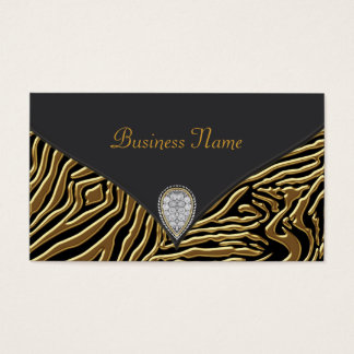 Black Zebra Gold Black Zebra Business Card