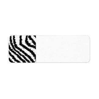 Black Zebra Print Pattern.