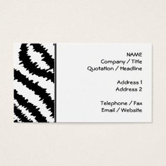 Black Zebra Print Pattern. Business Card