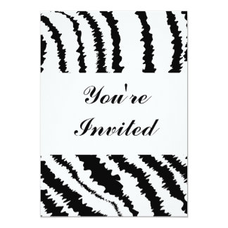 Black Zebra Print Pattern. Card