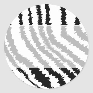 Black Zebra Print Pattern. Classic Round Sticker