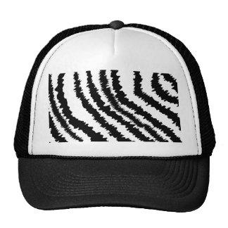Black Zebra Print Pattern. Hat