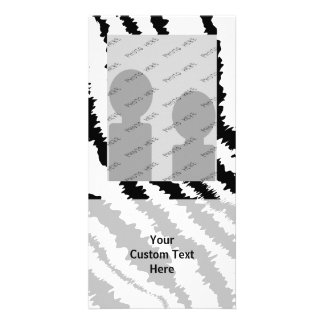 Black Zebra Print Pattern. Photo Cards