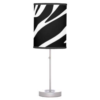 Black Zebra Print Pattern Table Lamp