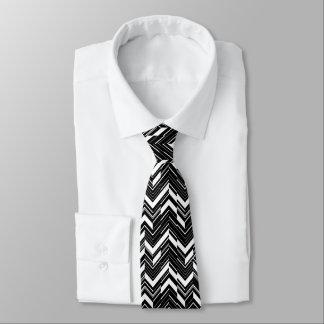 Black Zig Zag Men's Tie