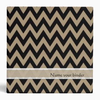 Black Zigzag Chevron Pattern 3 Ring Binders