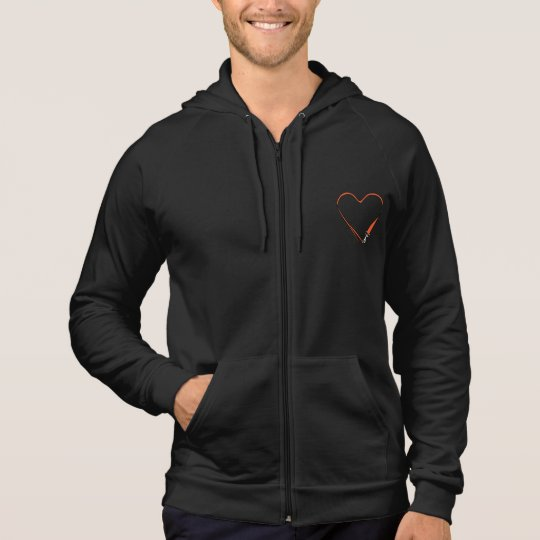 Black Zip Hoodie with InstaDogWalk logo