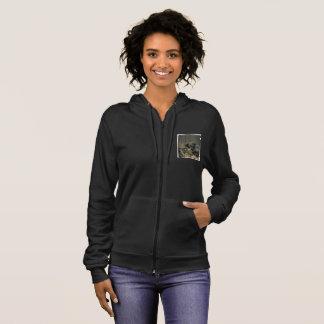 Black zipper hoodie puppy pic