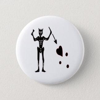 Blackbeard-Black 2 Inch Round Button
