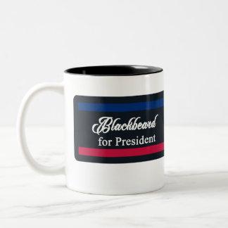 Blackbeard for President two-tone mug