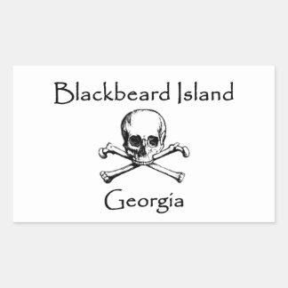 Blackbeard Island Georgia Jolly Roger Sticker