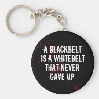 Blackbelt Basic Round Button Keychain