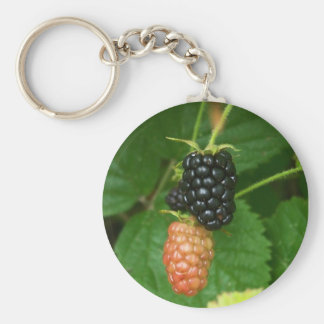 Blackberries Basic Round Button Keychain