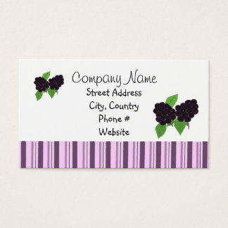 Blackberries Business Card