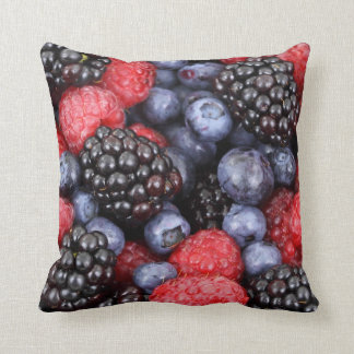 Blackberries, Raspberries, Blueberries Throw Pillow
