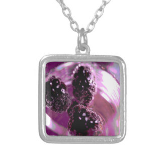 Blackberries Silver Plated Necklace