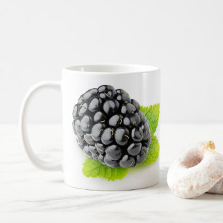 Blackberry and mint coffee mug