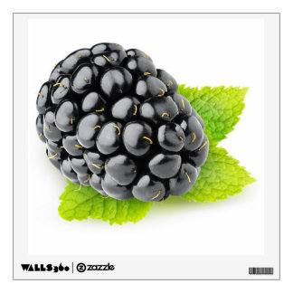 Blackberry and mint wall sticker