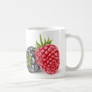 Blackberry and raspberry coffee mug