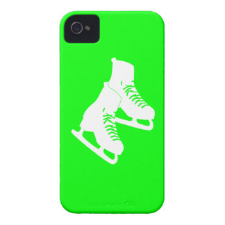 Blackberry Bold Ice Skates Green iPhone 4 Cases