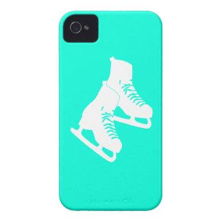 Blackberry Bold Ice Skates Turquoise iPhone 4 Case
