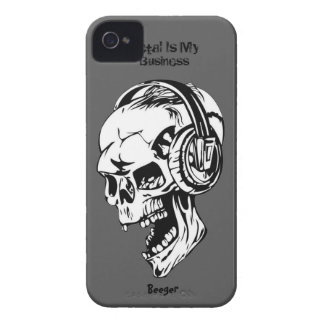 Blackberry bold - Metal Is my Business iPhone 4 Covers