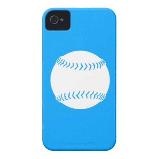 BlackBerry Bold Softball White on Blue Blackberry Case